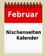Nischenseitenkalender Februar